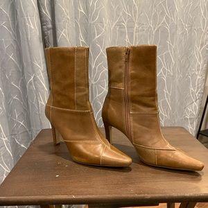 Brown patched heels